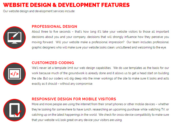 Sparkitects - including contrast as part of visual hierarchy in your website redesign